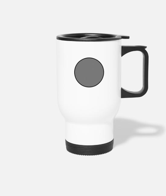 Line Mugs & Drinkware - kreis gefüllt - Travel Mug white