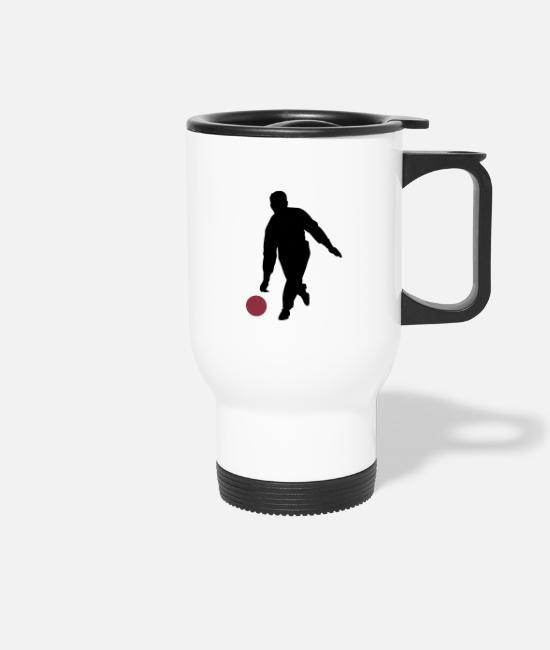 Bowling Club Mugs & Drinkware - Kegler Silluette on white - Travel Mug white