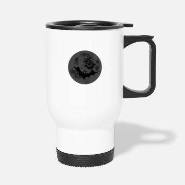 Dark Wave Vampire Bats Against The Dark Moon - Travel Mug