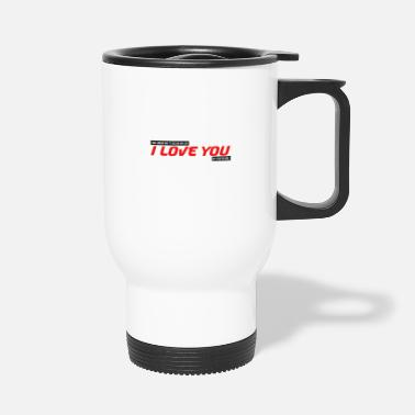 Cupid I was looking for how to tell you I love you couple - Travel Mug
