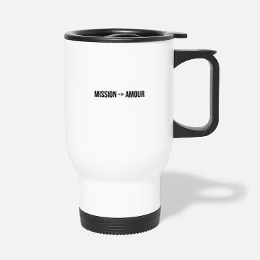 I Heart mission love couple gift romantic message - Travel Mug