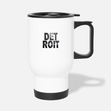 Down With Detroit Detroit Michigan Cityscape - Travel Mug