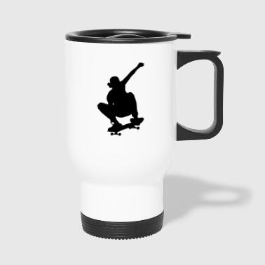 skater skateboard boarder skateboarding10 - Travel Mug