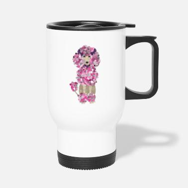 Paint Splatter Fun Paint Splatter Poodle - Travel Mug