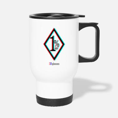 3d 1percenter 3d- 1 percent 3d - Travel Mug