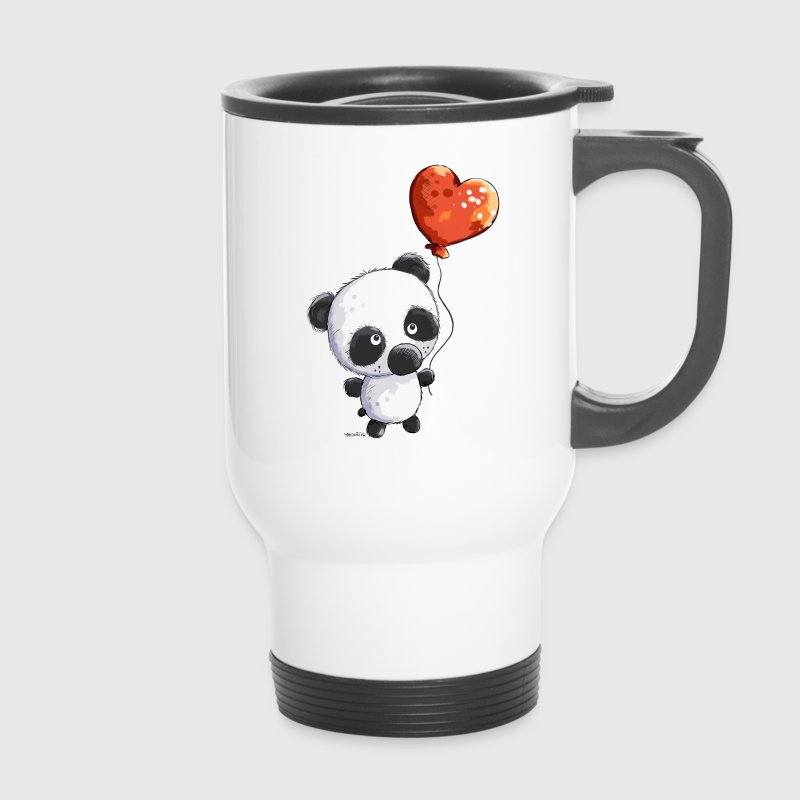 Panda mit Ballon - Thermobecher