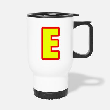 Alphabet, letter E - Travel Mug