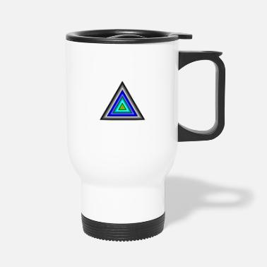 Triangle Triangles in triangle - Travel Mug