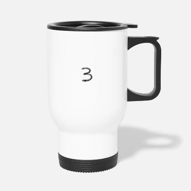 Number Number 3 - three - number - three - number 3 - number - Travel Mug