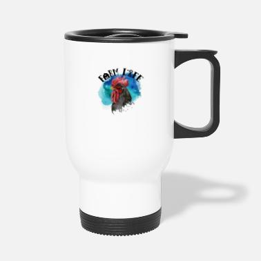 Rooster Watercolor Rooster Farm Life - Travel Mug