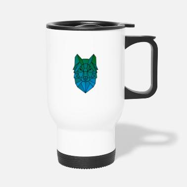 Wolf Symmetry Gift Idea - Travel Mug