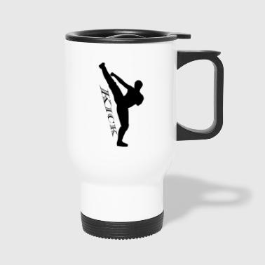 High kick kick black - Travel Mug
