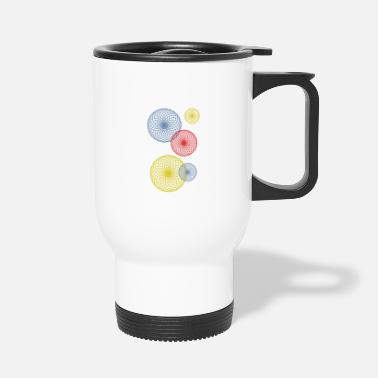 Air Bubbles Abstract colored bubbles and bubbles - Travel Mug
