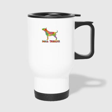 Bull Terrier Multicolored - Travel Mug