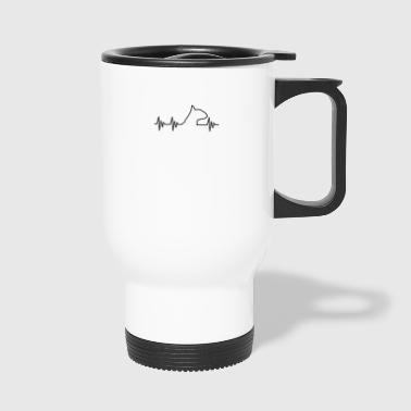 Love Bullterrier Terrier Dog Dog EKG - Travel Mug