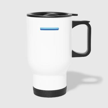 chat bubble right blue small - Travel Mug