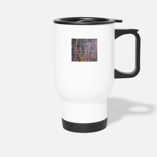 Synthesizer Mugs & Drinkware - Modular synth in color - Travel Mug white