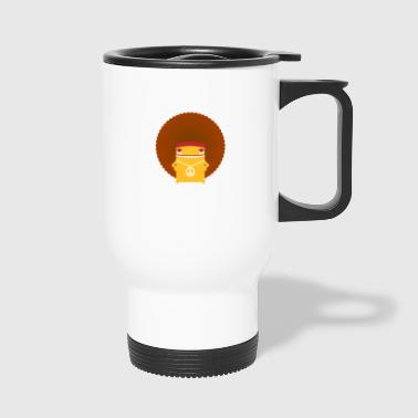 A Hippie With An Afro - Travel Mug