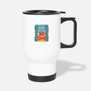 Christmas Meowy Christmas - Travel Mug
