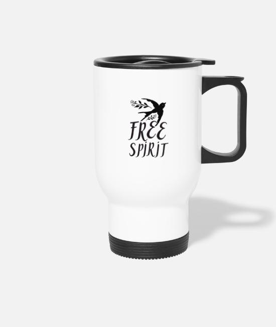 Mummy Mugs & Drinkware - Free spirit - Travel Mug white