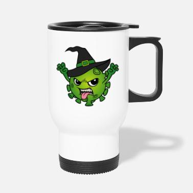 Monster Halloween 2020 Corona Virus Witch Witches Evil Witch - Travel Mug