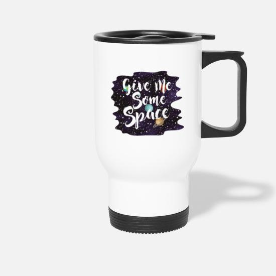 Saturn Mugs & Drinkware - Next Space star planet space gift - Travel Mug white