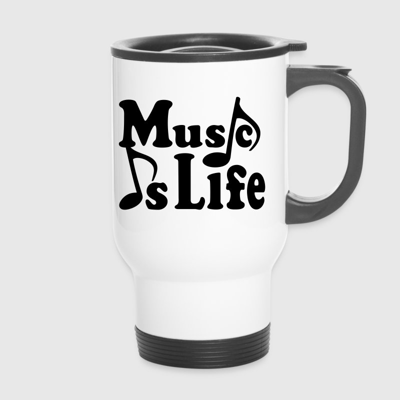 Music is Life. Musiknoten Noten Musik Musiker - Thermobecher
