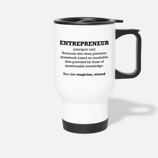 Marketing Tassen & Becher - Entrepreneur - wizard - Thermobecher Weiß