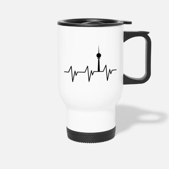 Berlin Bear Mugs & Drinkware - Heartbeat Berlin - Travel Mug white