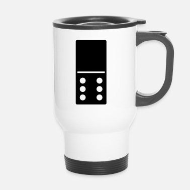 Chaîne DOMINO STONE 0: 6 - COULEUR VARIABLE - CONCEPTION DE VECTEUR! - Mug thermos