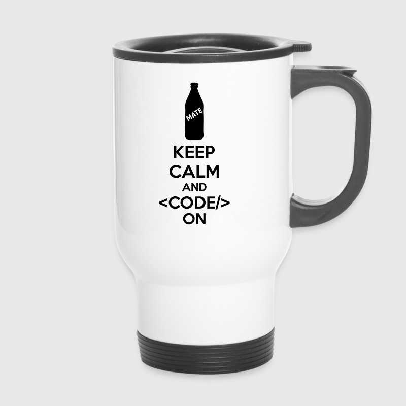 Keep Calm And Code On - Taza termo