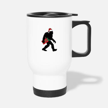 Seek Bigfoot Ugly Christmas - I Believe Funny Gift - Travel Mug