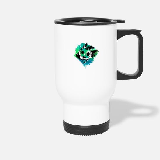 Soccer Mugs & Drinkware - football - Travel Mug white