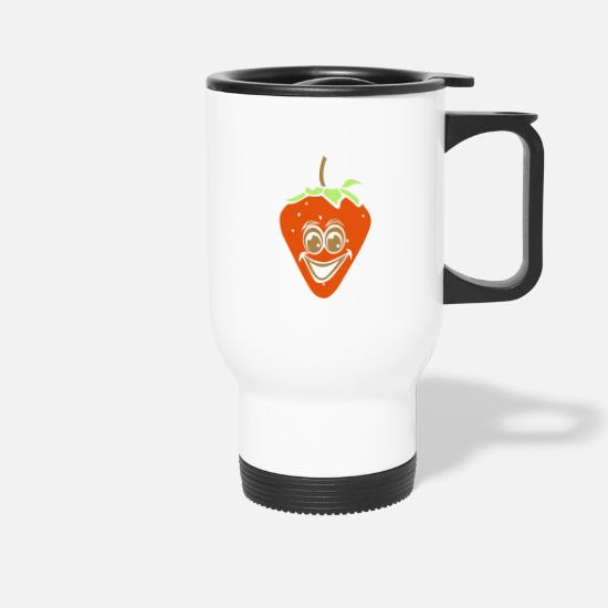 Strawberry Mugs & Drinkware - strawberry - Travel Mug white