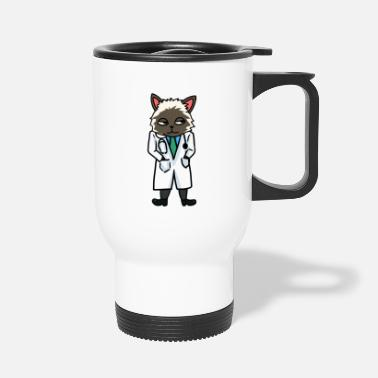 Métier Docteur Docteurs Métiers Métiers Cat - Mug isotherme