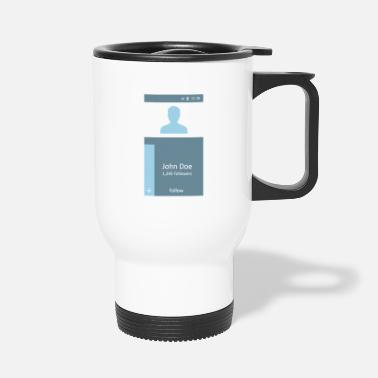 Mobile Smartphone Button App Internet Mobile Phone Gift - Travel Mug