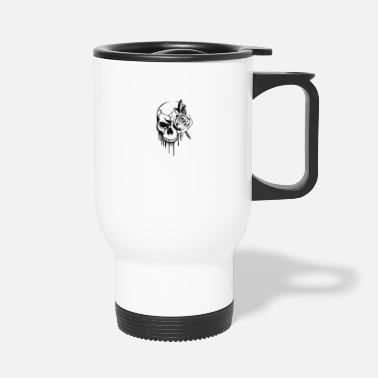 skull rose x - Travel Mug