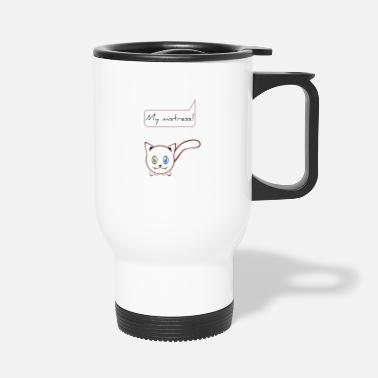 Breaching Cat mistress white cat cat lady cat lover - Travel Mug