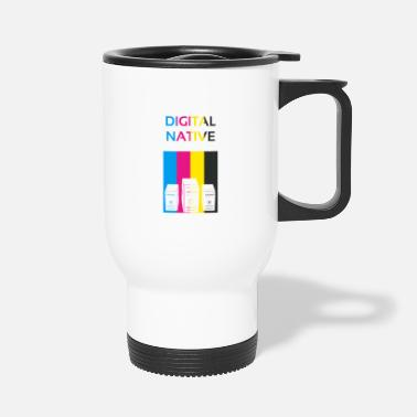 Digital Native CMYK Computer Gift - Travel Mug
