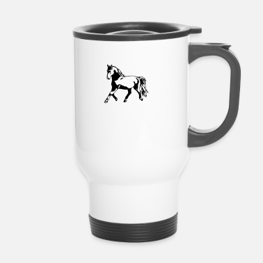 Trot Proud, gathered horse in trot - Travel Mug
