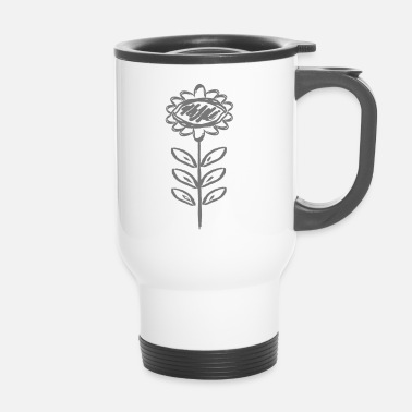 Decoración decoracion floral - Taza termo