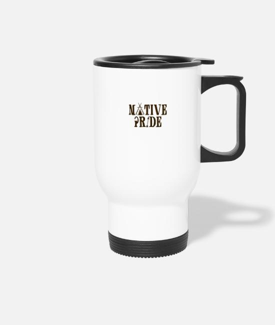 Sioux Mugs & Drinkware - Indians: Native Pride - Travel Mug white