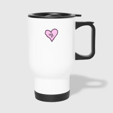 Pink Heart Fuck Off - Tazza termica