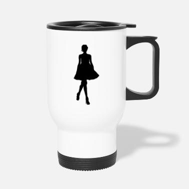 Silhouette Silhouette silhouette silhouette - Mug isotherme