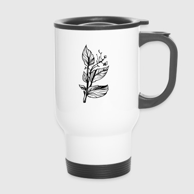 Vintage flowers sketch gift - Travel Mug