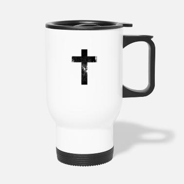 Cross Cross Grunge Cross / Cross - Travel Mug