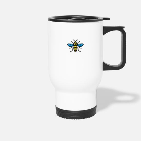 Manchester Mugs & Drinkware - Manchester Bee (Colour) - Travel Mug white