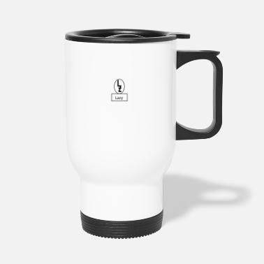Lazy lazy logo with Lazy - Travel Mug
