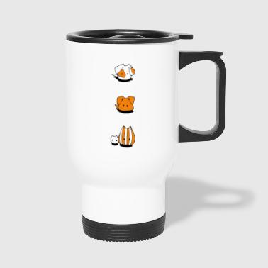 Two dogs and two cats - Travel Mug