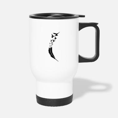 Mystical feather voegel fly - Travel Mug